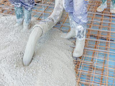 Concrete pumping photo